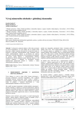 Vývoj námorného obchodu v globálnej ekonomike