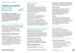 Vzdelávacie programy pre 2. stupeň ZŠ, SŠ a VŠ (PDF)