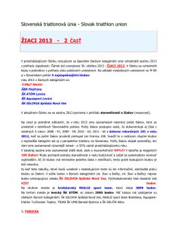 ŽIACI 2013 - 2 ČASŤ
