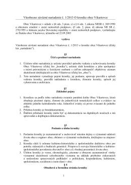 VZN č. 1/2013 o kronike obce