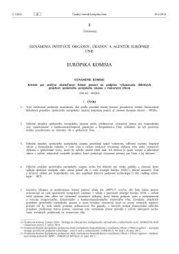 Kritériá pre analýzu zlučiteľnosti štátnej pomoci na podporu