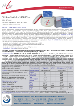 FitLine® All-In-1000 Plus - PM