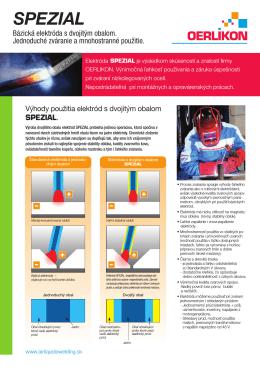 SPEZIAL Báziocké elektródy z dvojitým obalom pre