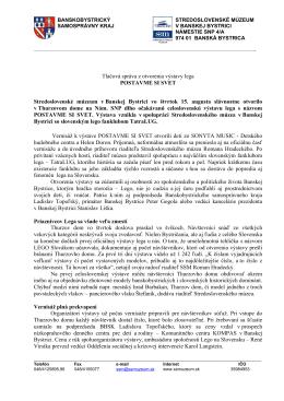 Tlačová správa z otvorenia výstavy lega POSTAVME SI SVET