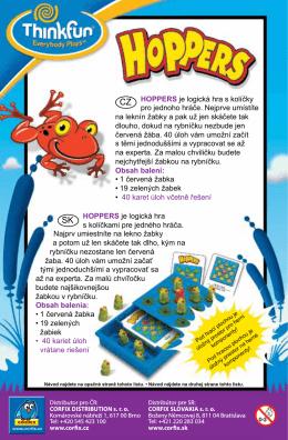 HOPPERS je logická hra s kolíčkami pre jedného - Eshop
