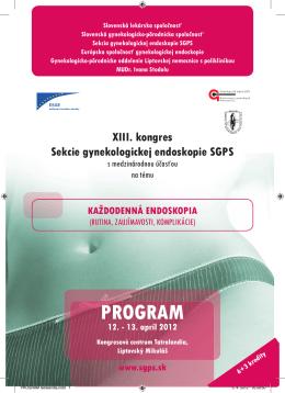 XIII. kongres Sekcie gynekologickej endoskopie SGPS