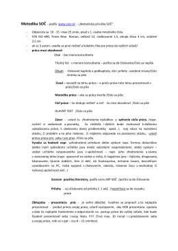 Metodika SOČ - podľa www.siov.sk