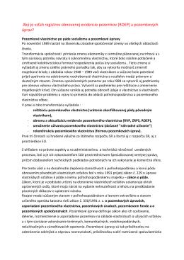 Aký je vzťah ROEP a PÚ?, (PDF)