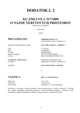 Dod. 02/2014 ku zml. 517/2009