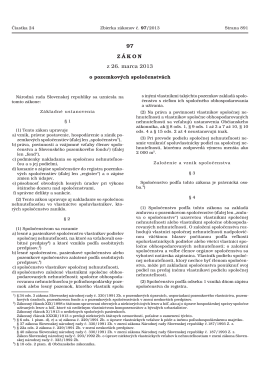 Zákon 97/2013 Zz