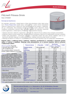 FitLine® Fitness Drink - PM