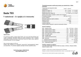 SADA T03 Trozbočovač pre 2 káble
