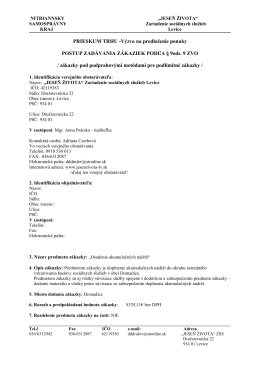 výzva prieskum trhu osadenie akumulačných nádob 2013