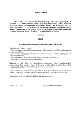 celý dokument - Obec Sedliská