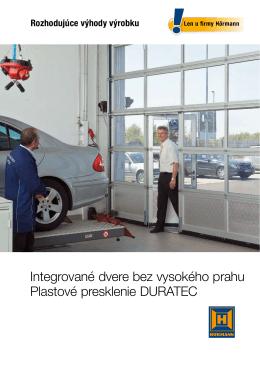 Integrované dvere bez vysokého prahu Plastové
