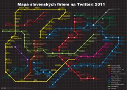 Mapa slovenských firiem na Twitteri 2011