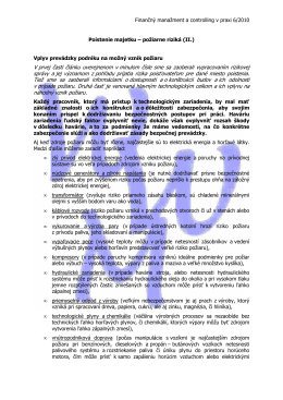 Požiarne riziká z pohľadu poistenia majetku (II.)