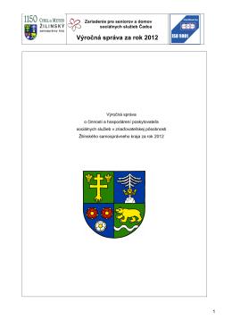 Výročná správa za rok 2012 - Zariadenie pre seniorov a domov