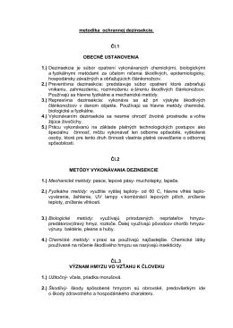 metodika ochrannej dezinsekcie 1