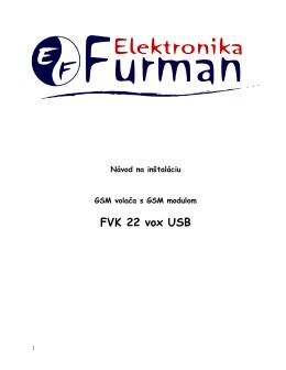 Návod pre FVK 22 vox USB