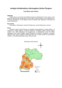 Analýza infraštruktúry mikroregiónu Dolina Čergova