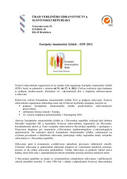 Európsky imunizačný týždeň - Efektívnosť očkovania (pdf, 361 kB)