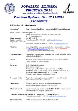 POVAŽSKO- ŽILINSKÁ PIRUETKA 2013