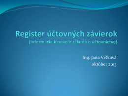 RÚZ – informácia k novela zákona o účtovníctve od 1.1.2014
