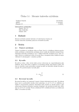 Úloha č.4 – Meranie tiažoveho zrýchlenia