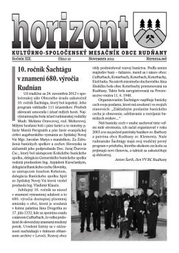 Horizont číslo 10/2012