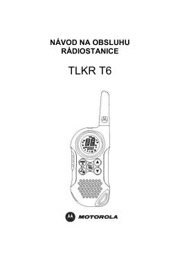 Navod na obsluhu TLKR T6_SK