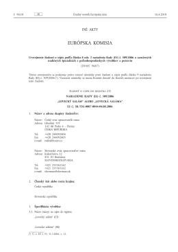 EURÓPSKA KOMISIA - BEL/NOVAMANN International sro