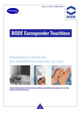 Bezdotykový dávkovač pre dezinfekčné prípravky na ruky
