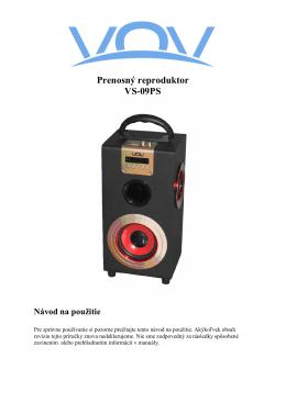 Prenosný reproduktor VS-09PS - dia
