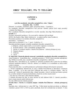 Zápisnica z OZ konaného 03.02.2014 (pdf, 149 kB)