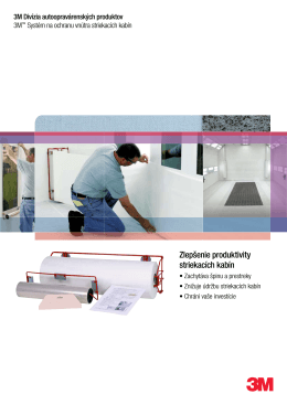 3M™ Systém na ochranu vnútra striekacích kabín