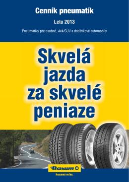 Cenník pneumatík
