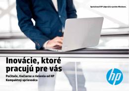 počítače , tlačiarne a riešenia od HP - zima 2013