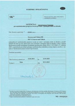 EU licencia