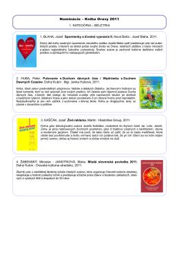 nominovaných 17 kníh - Oravská knižnica Antona Habovštiaka