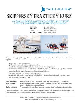 plavba Chorvátsko – Murter / skippertrening