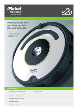 Produktový list iRobot Roomba 620