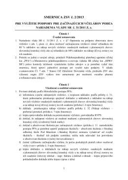 SMERNICA ZSV č. 2/2013