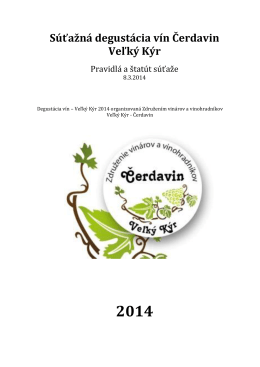 Súťažná degustácia vín Čerdavin Veľký Kýr