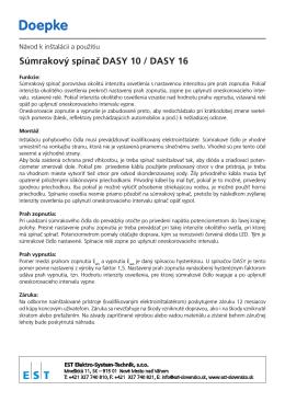 Súmrakový spínač DASY 10 / DASY 16 - Elektro-System