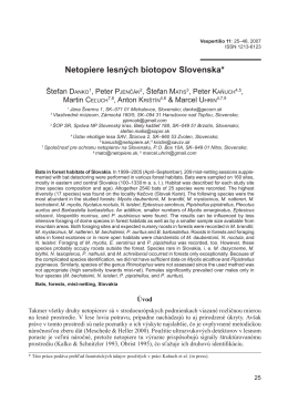 Netopiere lesných biotopov Slovenska*