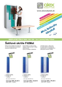 Šatňové skriňe FittMet - Alex kovový a školský nábytok sro