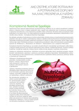 Komplexná Nutričná Typológia