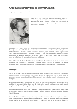 Otto Rahn a Putovanie za Svätým Grálom