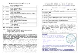 Farský list č. 35 / 2014 - Farnosť Martin - Mesto
